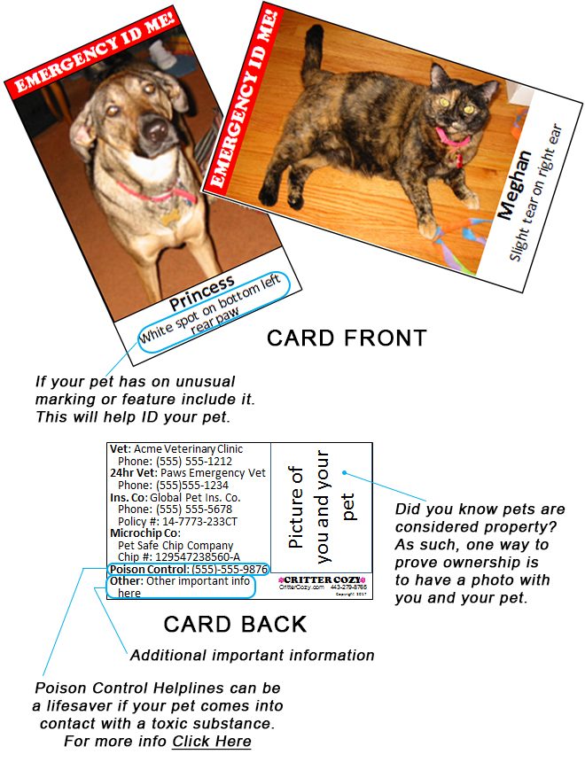 Emergency ID Me! card