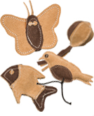 Dura Fused Leather Toys by Ethical Pets