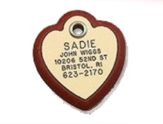 Framed Heart Pet Tag