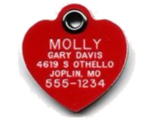 Heart Shape Pet Tags